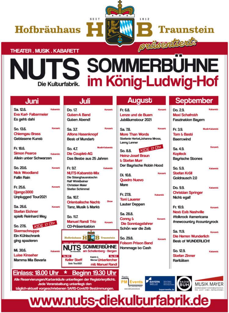 Programm: NUTS-Sommerbühne